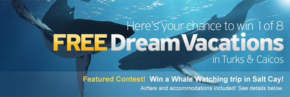 Win your stay at leading Turks and Caicos hotels and resorts by entering one of eight contests!